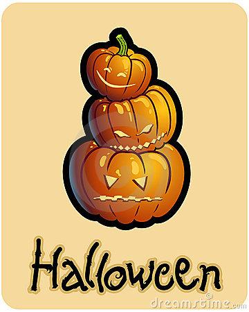 Halloween s three pumpkin heads of jack