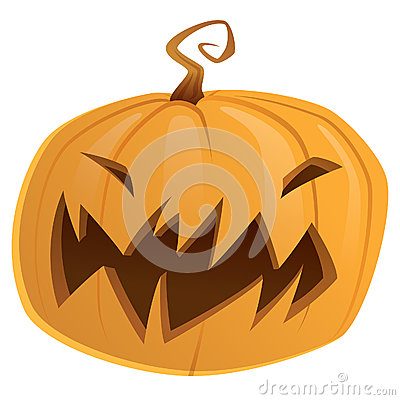 Halloween scary cartoon vector pumpkin trick or treat isolated