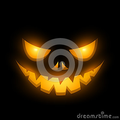 Halloween scary face