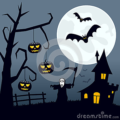 Halloween Scary Landscape