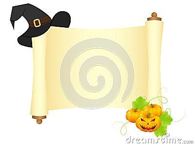 Halloween scroll