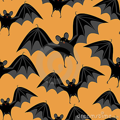 Halloween seamless  with bats