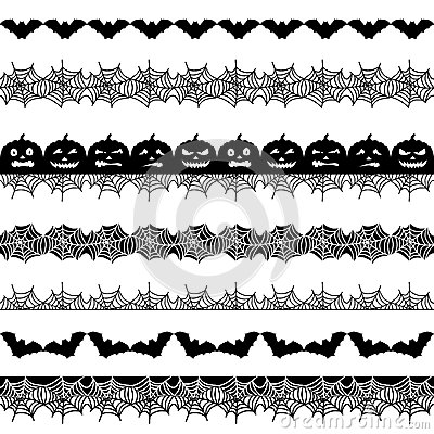 Halloween seamless border