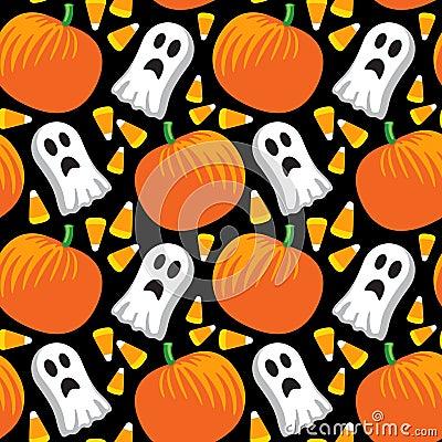 Free Halloween Seamless Pattern Stock Image - 10359301