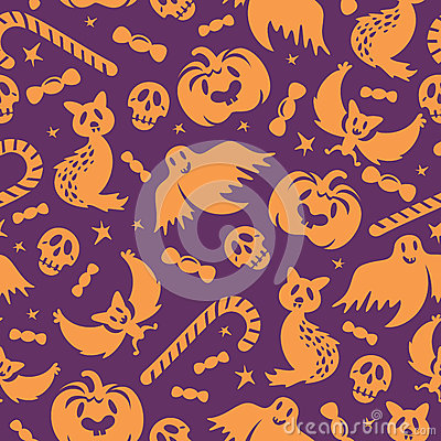 Halloween seamless pattern