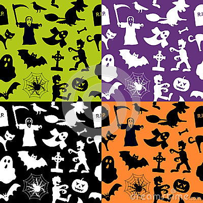 Free Halloween Seamless Patterns Royalty Free Stock Images - 34542519