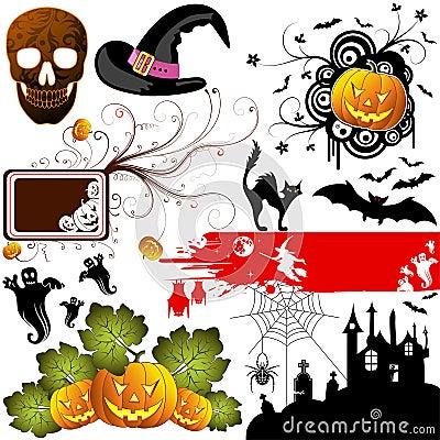 Free Halloween Set Stock Photography - 6273652