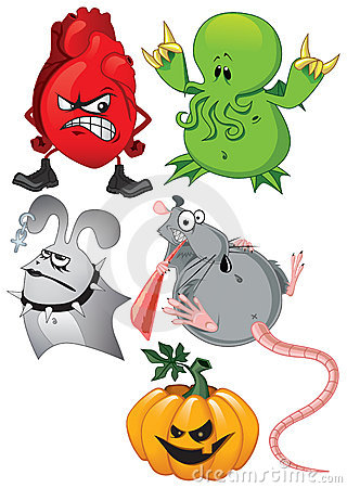 Free Halloween Set Royalty Free Stock Image - 7797916