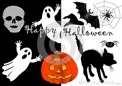 Halloween set icons. vector.