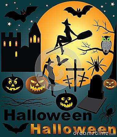 Halloween set. vector