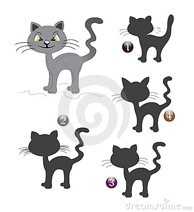 Halloween shape game: the cat