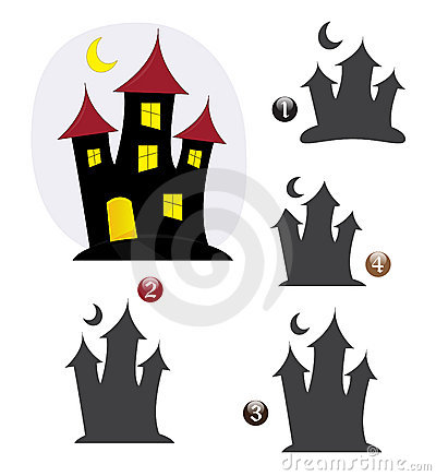 Halloween shape game: the haunted house