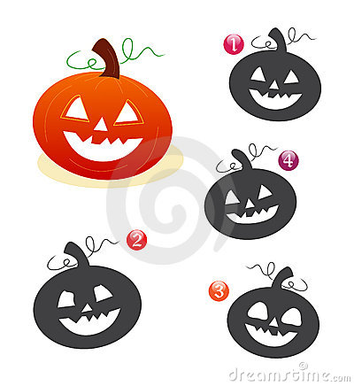 Halloween shape game: the pumpkin