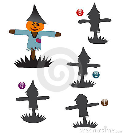 Halloween shape game: the scarecrow