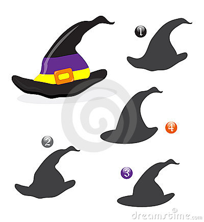 Halloween shape game: the witch hat