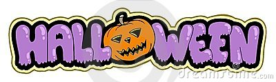 Halloween sign with pumpkin