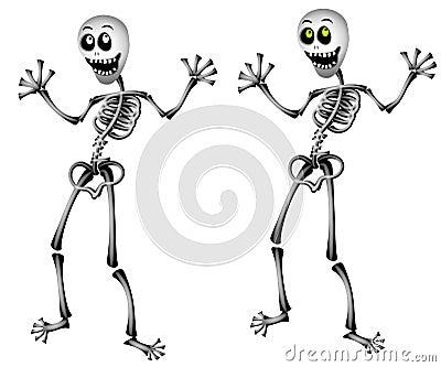 Halloween Skeletons Standing