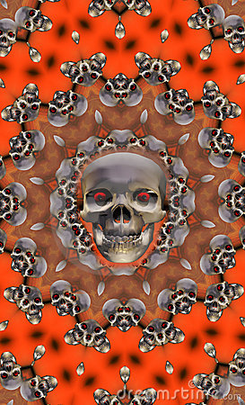 Free Halloween Skull Royalty Free Stock Photography - 995807