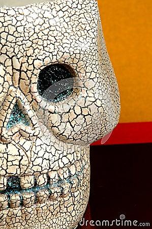 Halloween skull half face