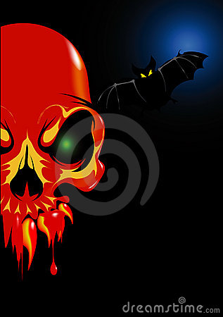 Halloween Skull Red Royalty Free Stock Photo - Image: 11131485