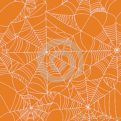 Free Halloween Spider Web Seamless Pattern Royalty Free Stock Photography - 44642337