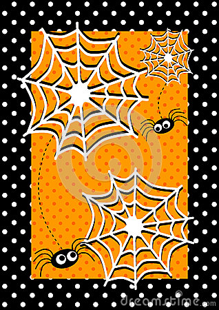 Halloween spiders Invitation Card