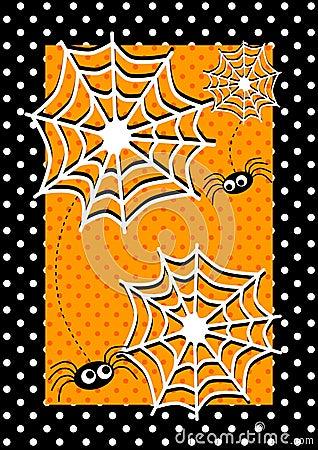 Halloween spiders Invitation Card