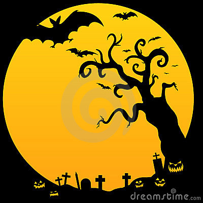 Free Halloween Spooky Tree Royalty Free Stock Photos - 16358748