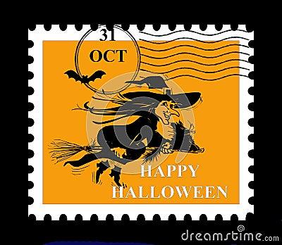 Halloween stamp.
