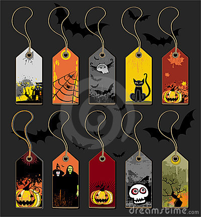 Free Halloween Tags Stock Photography - 6474702