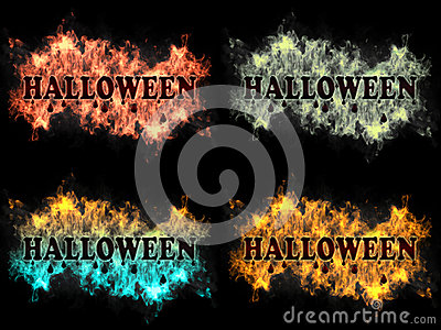 Halloween tecken på brand