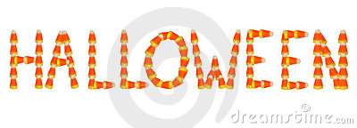 Halloween text Candy Corn