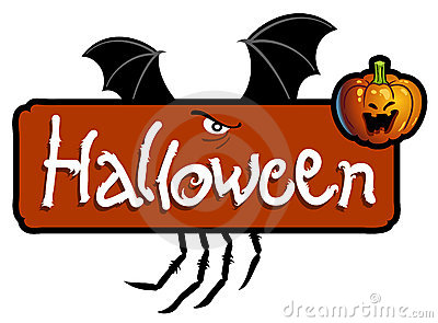 Halloween titling - bat wings and spider s claws