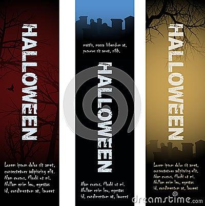 Halloween tombstone banners