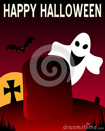 Halloween Tombstone and Ghost