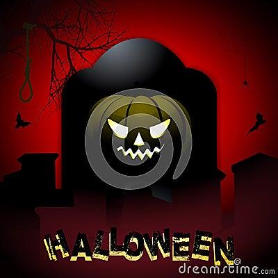 Halloween Tombstone And Pumpkin Background Stock ...  Halloween Tombstone Background