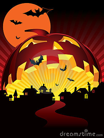 Free Halloween Town Stock Photography - 6765292