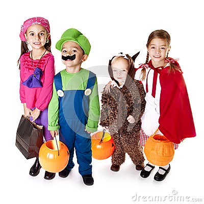 Free Halloween Trick-or-Treaters Stock Images - 26722044