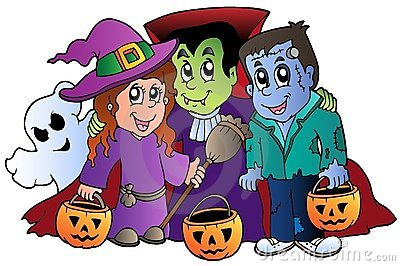 Halloween trick or treat characters