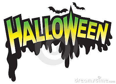 Halloween type graphic logo