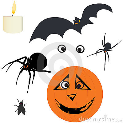 Halloween Vector Design Elemnts Royalty Free Stock Photos - Image: 6412308