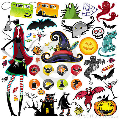 Halloween vector elements