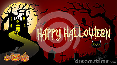 Halloween Wallpaper Vector Illustration