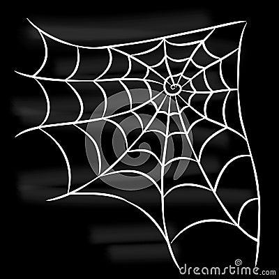 Free Halloween White Spider Web On Black Background. Royalty Free Stock Photo - 101307345