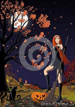 Free Halloween Witch. Royalty Free Stock Image - 101256366