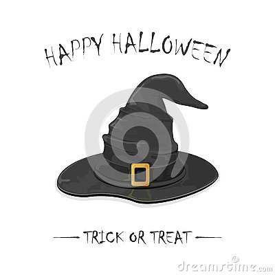 Halloween witch hat Vector Illustration