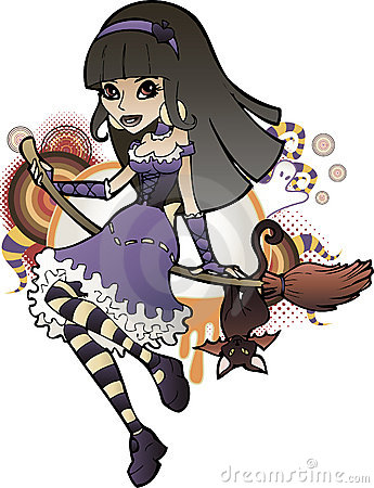 Halloween Witch Purple