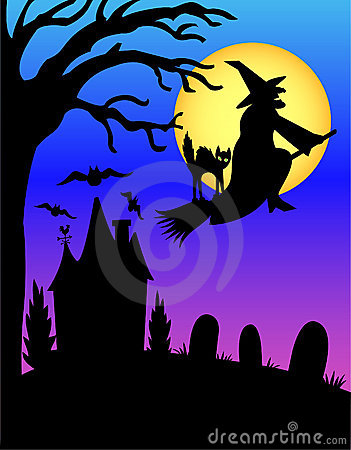 Free Halloween Witch Silhouette/eps Stock Photos - 2751713
