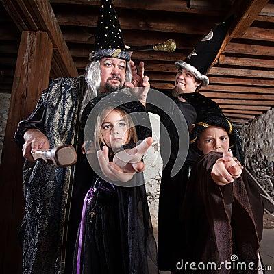 Halloween Wizard Family
