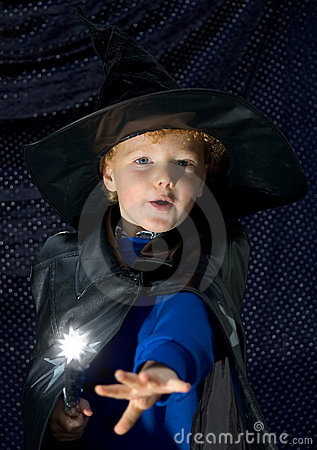 Halloween Wizard Kid